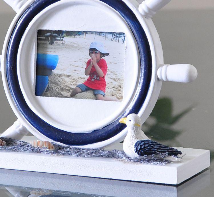 相框 灯塔 木制手绘 广告促销礼品 舵手相框