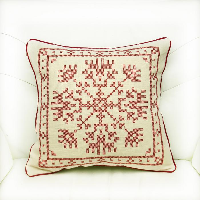 欧式十字绣成品 靠垫抱枕套
