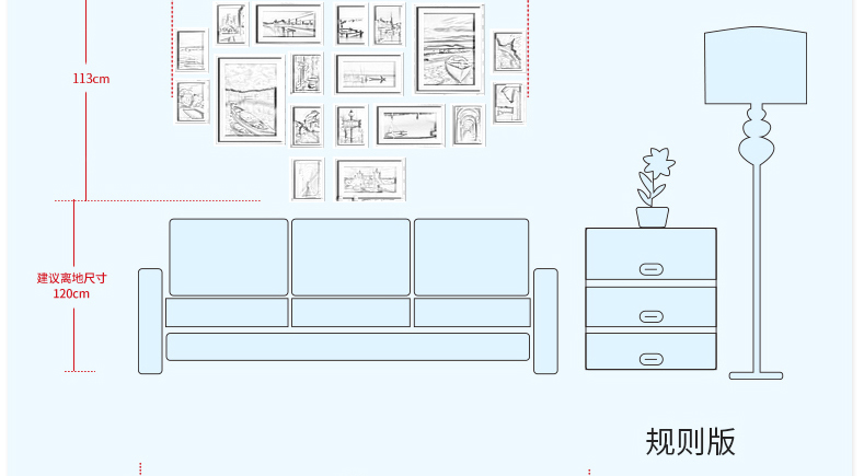 欧式实木照片墙 客厅背景相框墙企业文化墙相框创意
